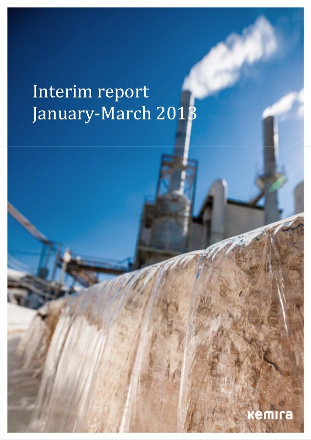 Interim	report	January‐March	2013