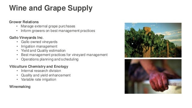 Complexities of Wine Growing Not a Biomass Product • Manage more than just nitrogen and water • A number of activities go ...