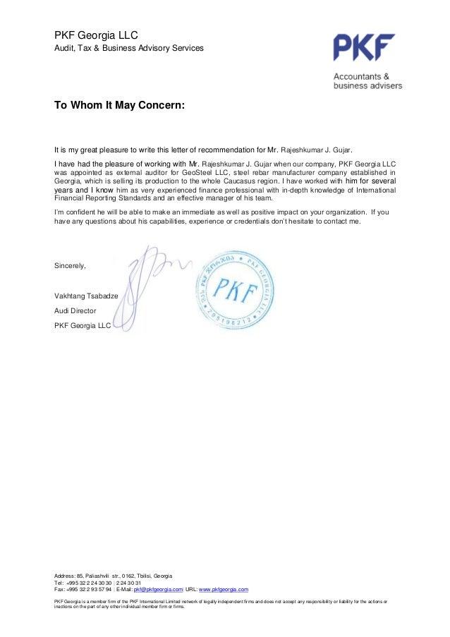 recommendation letter from mr  vakhtang