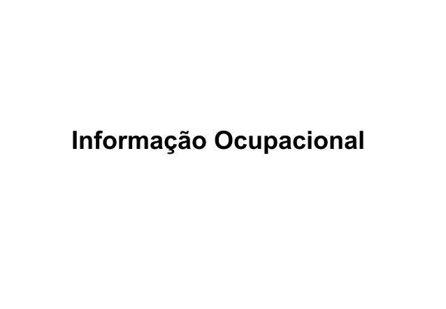 Informação Ocupacional