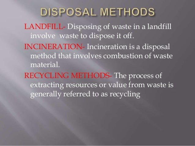 waste disposal and management laws and guidelines