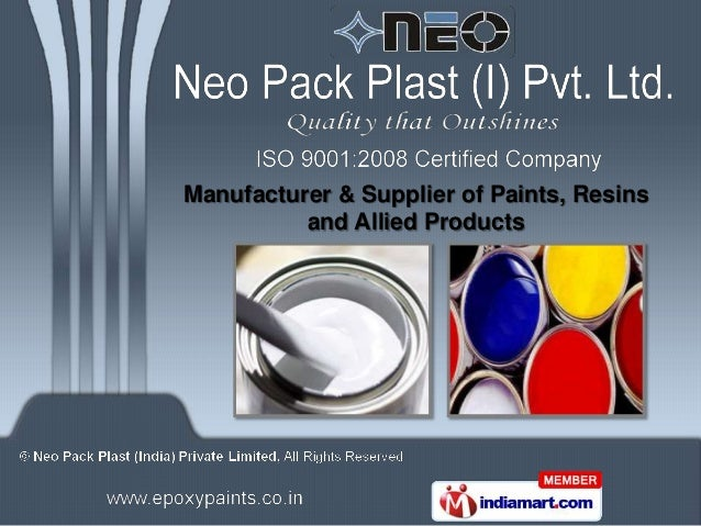 Manufacturer & Supplier of Paints, Resins          and Allied Products