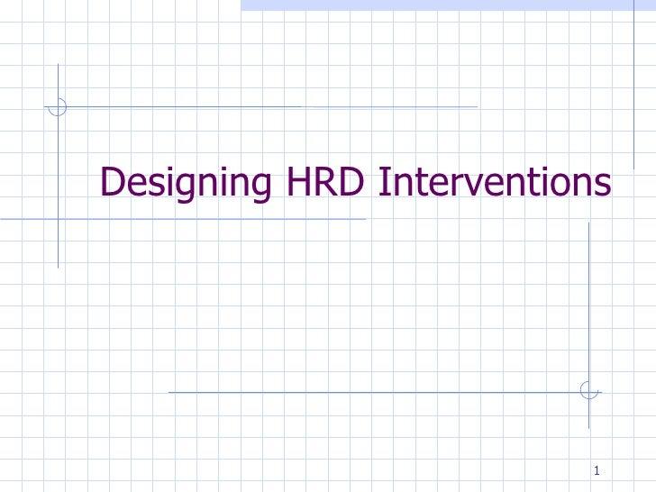 Designing HRD Interventions