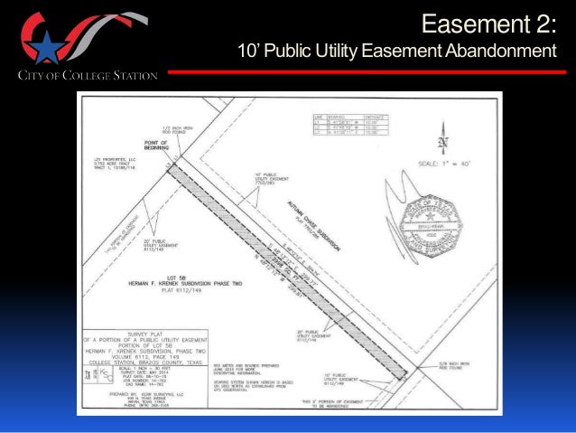 how to get a utility easement