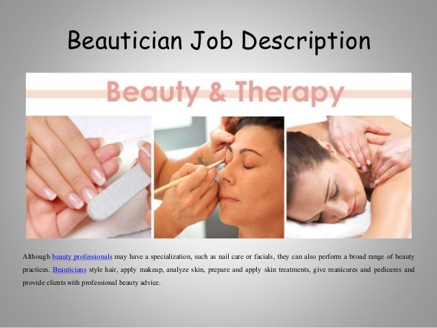 beautician job description - Beautician Job Description