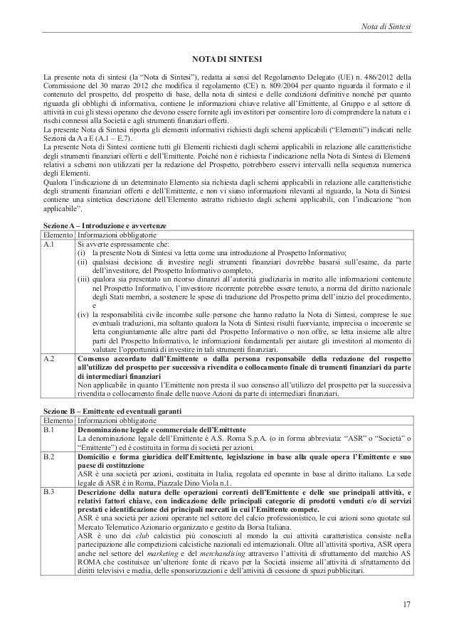 Prospetto informativo stadio as roma - Unicredit roma via specchi ...