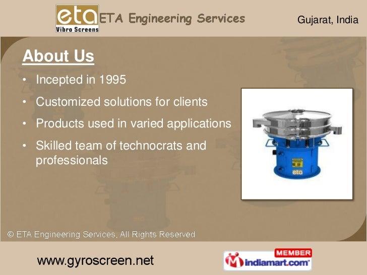 Vibrating Equipment by ETA Engineering Services Gandhinagar Slide 2