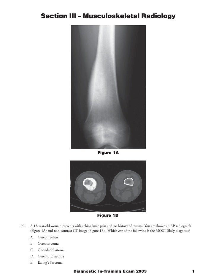 Section III – Musculoskeletal Radiology                                                       Figure 1A                   ...