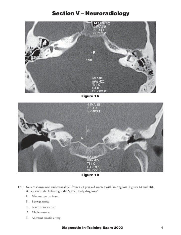 Section V – Neuroradiology                                                     Figure 1A                                  ...