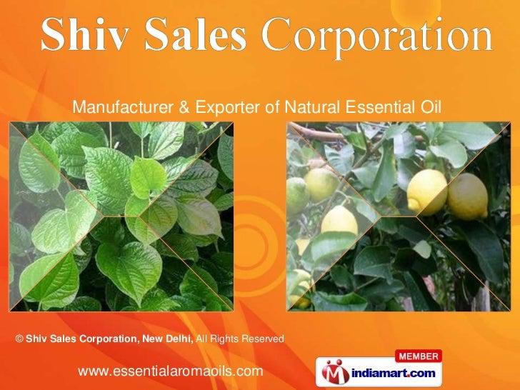 Manufacturer & Exporter of Natural Essential Oil<br />