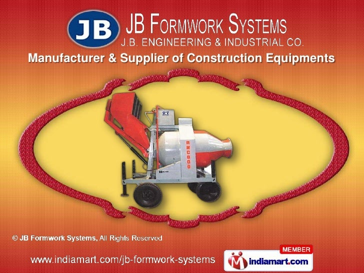 Manufacturer & Supplier of Construction Equipments