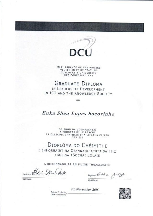 de pos graduacao dublin city university diploma de pos graduacao dublin city university