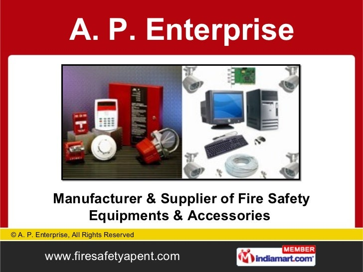 Manufacturer & Supplier of Fire Safety Equipments & Accessories