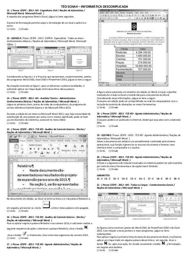 Exercicios-word-questoes-2013-cespe-35-imprimir Slide 2