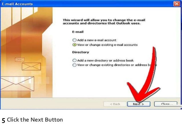 5 Click the Next Button