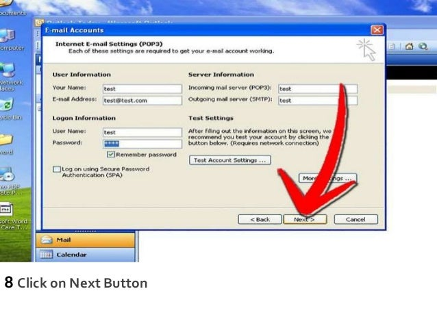 8 Click on Next Button