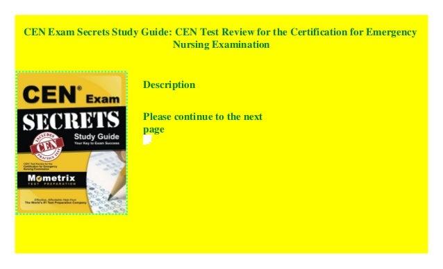cen certification test exam secrets study