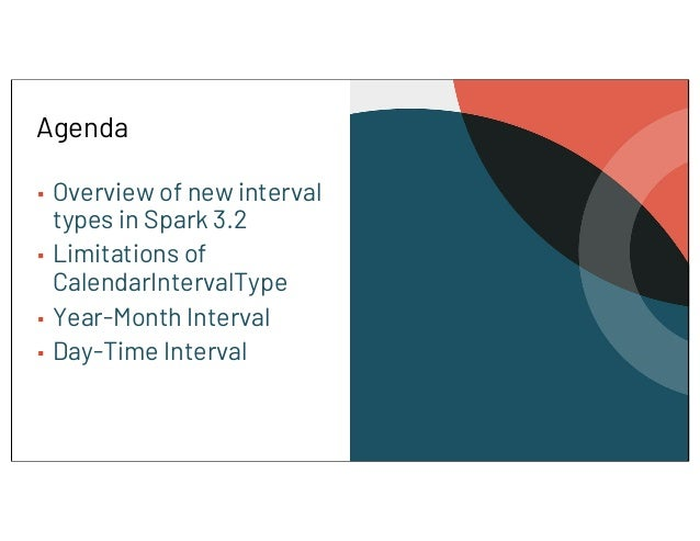 Comprehensive View on Intervals in Apache Spark 3.2 Slide 3