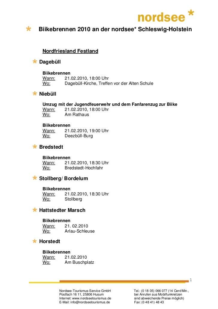 Biikebrennen 2010 an der nordsee* Schleswig-Holstein Nordfriesland FestlandDagebüll Biikebrennen Wann:     21.02.2010, 18:...