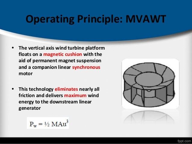 magnetic levitation in wind turbinesgenerate electricity; 13 operating principle mvawt \u2022 the vertical axis wind turbine