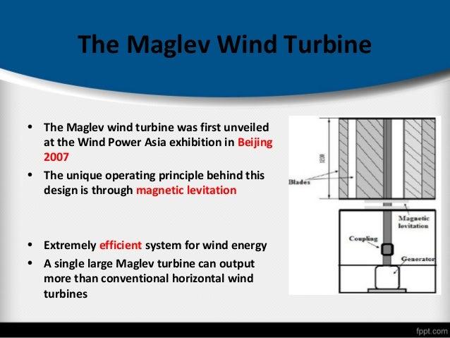 magnetic levitation in wind turbinesstability; 5 the maglev wind turbine