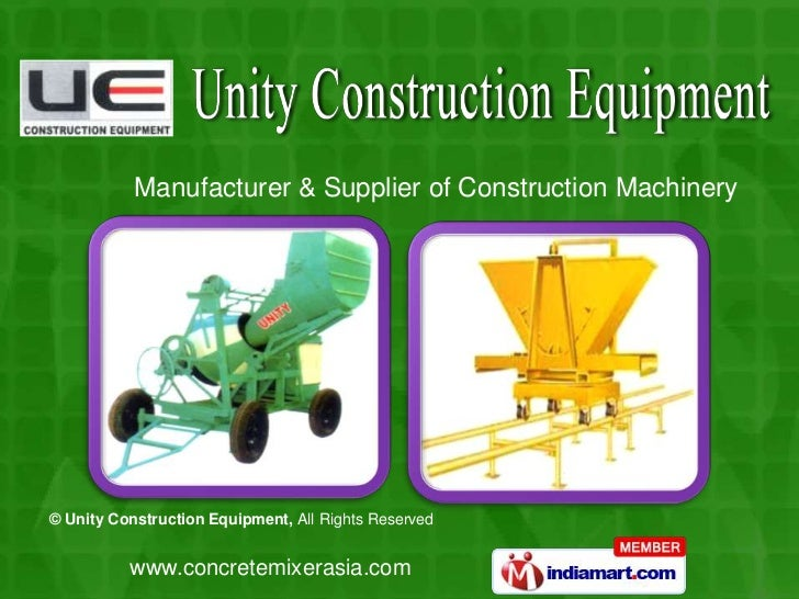 Manufacturer & Supplier of Construction Machinery<br />