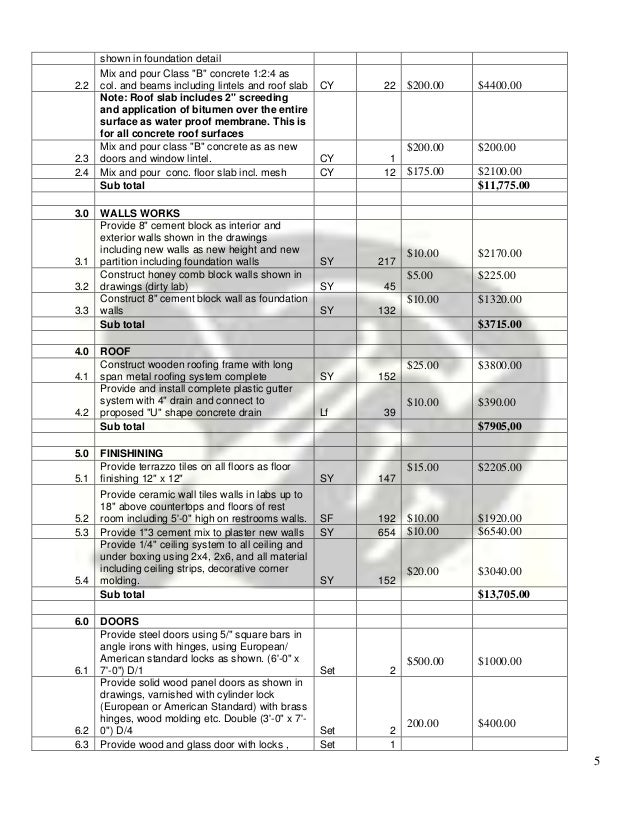Bill of quantities 17500 507500 5 thecheapjerseys Image collections