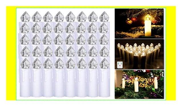 Weihnachtsbeleuchtung Mit Fernbedienung.Hengmei 50er Weihnachtskerzen Christbaumkerzen Christbaumbeleuchtung