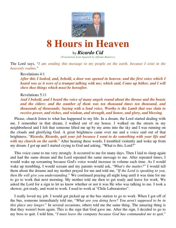 8 Hours in Heaven                                          by Ricardo         Cid                                 (Transla...