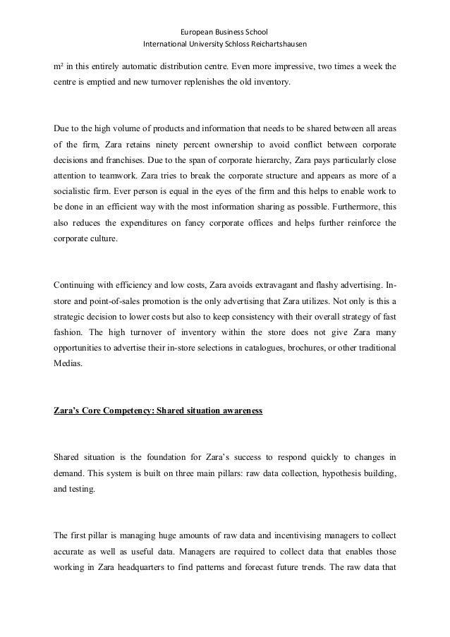 zara core competencies