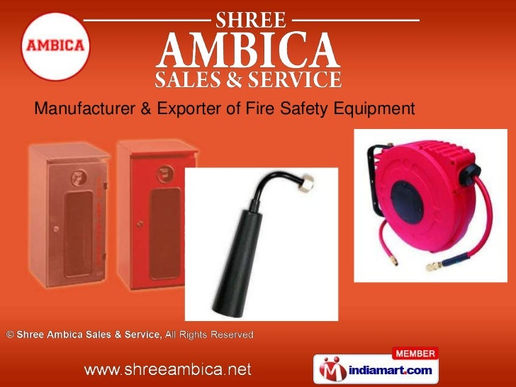 Manufacturer & Exporter of Fire Safety Equipment