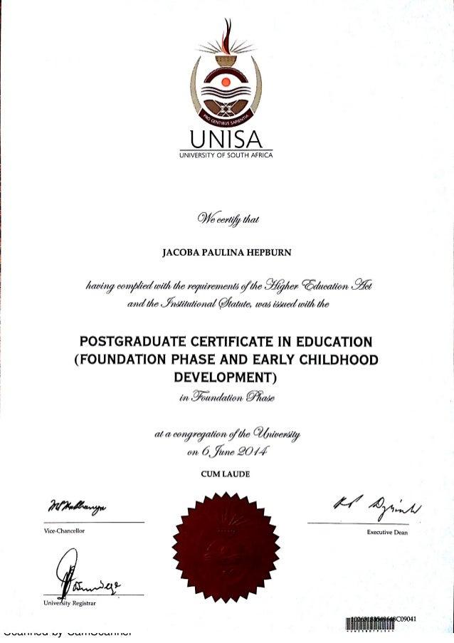 Early Childhood Development Certificate