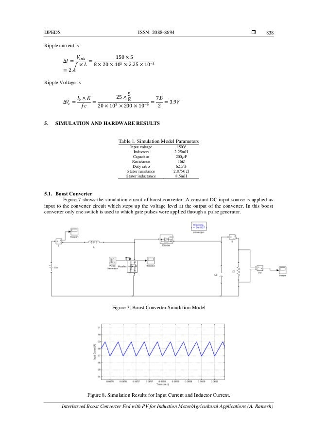 Interleaved Boost Converter Fed with PV for Induction Motor/Agricultu…