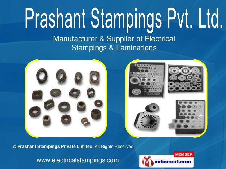 Manufacturer & Supplier of Electrical <br />Stampings & Laminations<br />