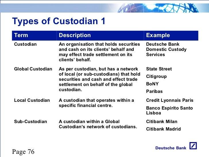 custodian meaning