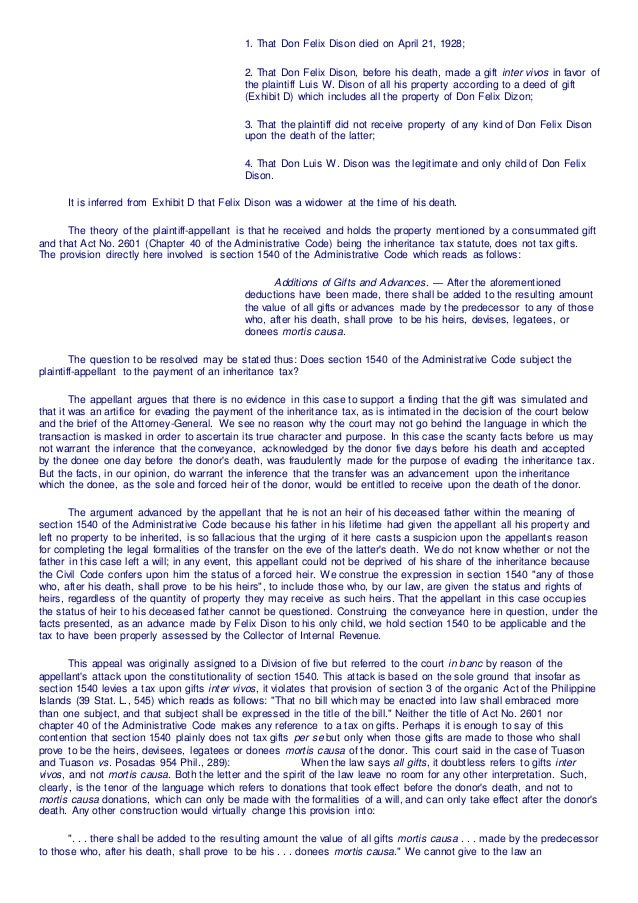tax 2 cases Tax cases 1 profit from sale of  2 of the real property gains tax act 1976  tax payable in respect of the acquisition of the 80,000 shares because there was.