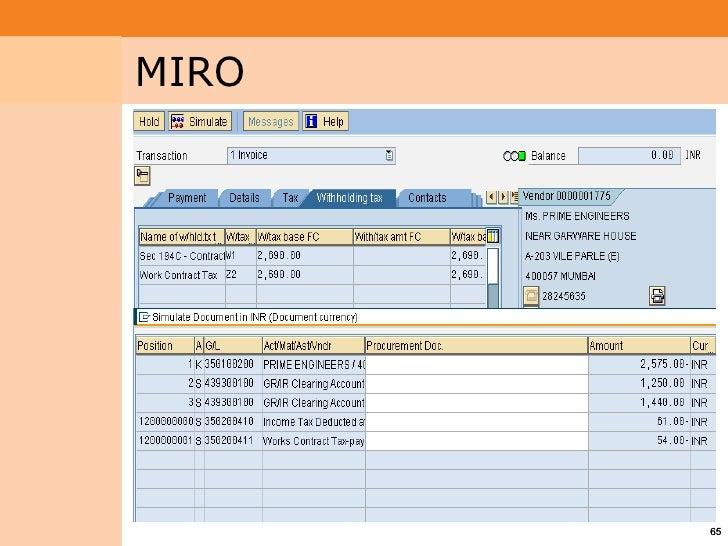 SAP mm module