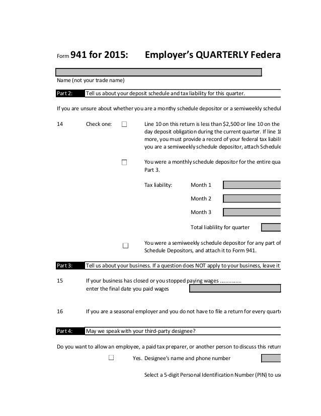 Tax Form 941-1