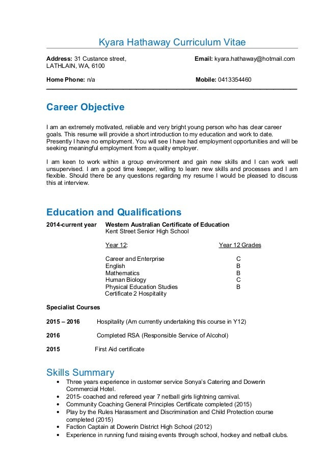 kyara hathawat s resume
