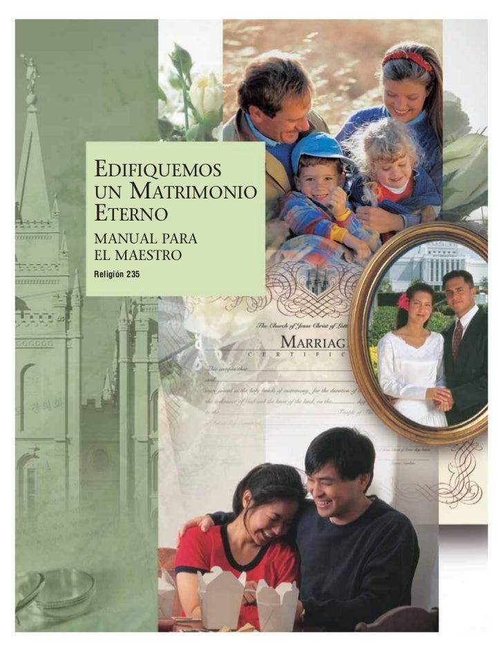 Matrimonio Eterno Biblia : Edif matrimonio eterno maestro