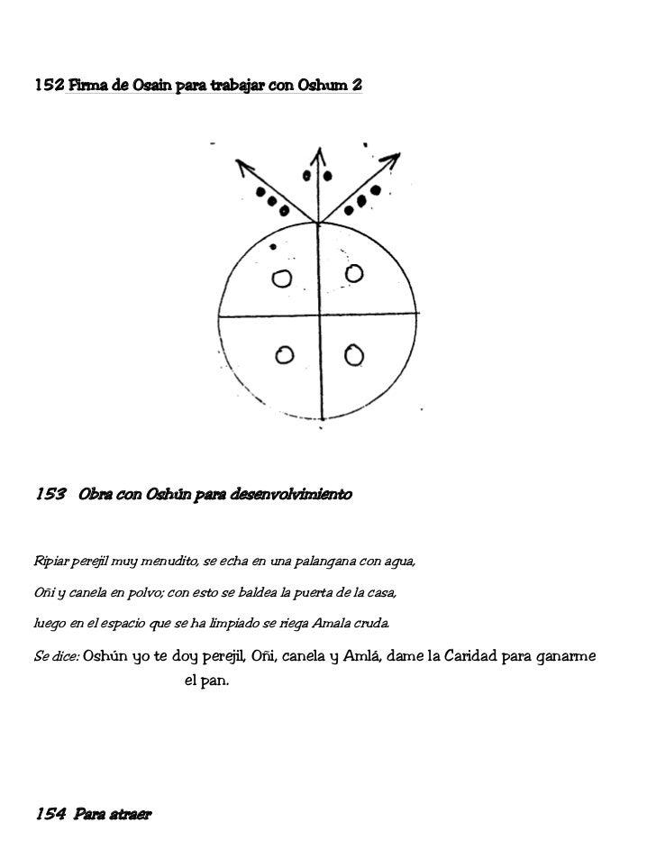152 Firma de Osain para trabajar con Oshum 2153 Obra con Oshún para desenvolvimientoRipiar perejil muy menudito, se echa e...