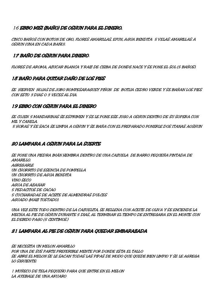 16 EBBO MISI (BAÑO) DE OSHUN PARA EL DINERO.CINCO BAÑOS CON BOTON DE ORO, FLORES AMARILLAS, EFUN, AGUA BENDITA 5 VELAS AMA...