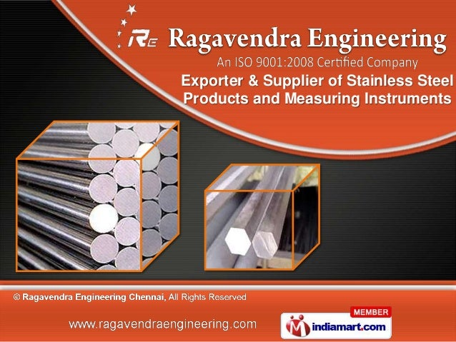 Exporter & Supplier of Stainless SteelProducts and Measuring Instruments