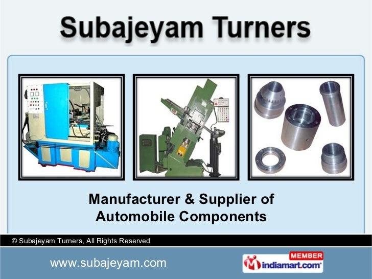 Manufacturer & Supplier of Automobile Components
