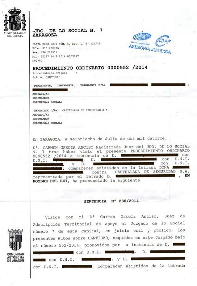 236425004 sentencia juzgado social obligatoriedad pago for Juzgado seguridad social