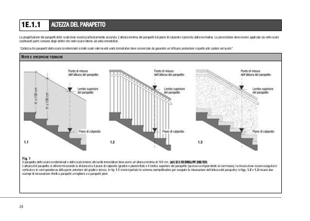 237 linee guida in materia di miglioramento della - Altezza parapetti finestre normativa ...