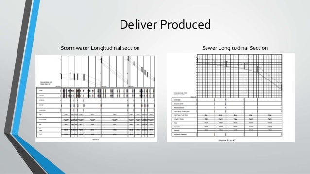 Deliver Produced Stormwater Longitudinal section Sewer Longitudinal Section