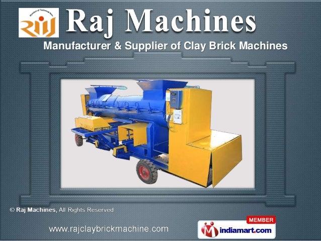 Manufacturer & Supplier of Clay Brick Machines