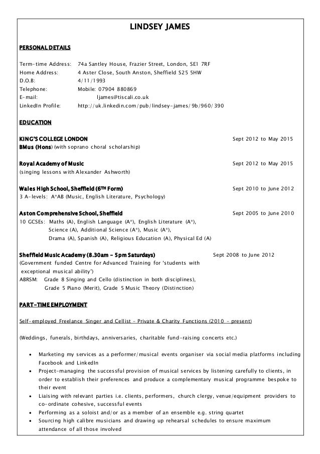 lindsey james cv linkedin latest 170515