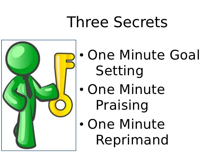 an introduction to the one minute manager and one minute goal setting By now, the one minute manager by kenneth blanchard, phd and spencer   at atiim, we believe clear and effective goal setting is such an integral part of.